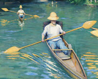 Skiffs on the Yerres Gustave Caillebotte Fine Art Print Canvas Giclee Repro 8x10