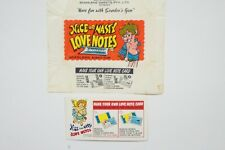 Scanlen's Nice or Nasty Love Notes wrapper & Love Note card 1973