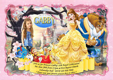Beauty and the Beast Invitation, Princess Party, Belle Birthday Invite