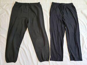 Lot of 2 Men's Black Lounge Sweats Sleep Jammie Pants Sz. S & M