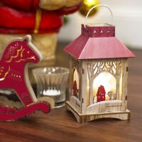 LIGHT UP LED RED LANTERN TRADITIONAL CHRISTMAS ORNAMENT table decorations tree