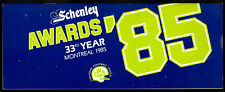 1985 SCHENLEY AWARDS 33rd YEAR IN MONTREAL CFL CANADIAN FOOTBALL LEAGUE GUIDE NM