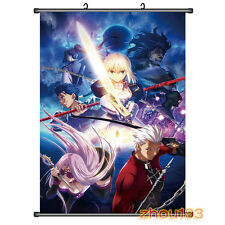 Anime Fate Stay Night Saber/Archer/Lancer Home Decor Poster Wall Scroll#S-Y-N05