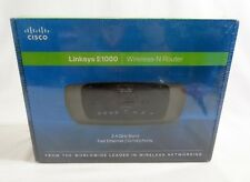 Linksys E1000 Wireless N Router 2.4 GHz Band Fast Ethernet (10/100) Ports