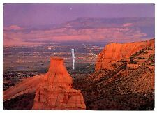 Colorado National Monument Rimrock Drive Postcard Rock Formations Lights Posted