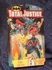 Total Justice BLACK LIGHTNING DC Comics Action Figure 1997 MOC Sealed JLA League