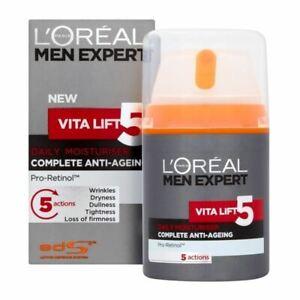 NEW - L'Oreal Paris Men Expert Vita Lift 5 Complete Anti-Ageing Cream 50ml