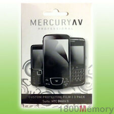 Mercury AV Pro Screen Protector 3Pack for HTC Desire S S510 Clear Film Overlay
