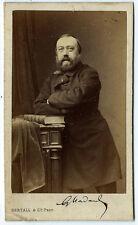 Photo cdv Portrait de Gustave Nadaud signé poète vers 1870 Bertall Paris