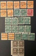 CANADA 1930-1931 - KING GEORGE V - 'ARCH/LEAF' ISSUE - 27 PRE-CANCELS