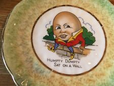 Vintage Bone China, Royal Imperial Nursery Rhyme Plate, Humpty Dumpty