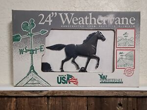 """Black Horse Weathervane 24"""" Handcrafted Recycled Aluminum by Whitehall Limited"""