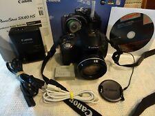 Canon PowerShot SX40 HS 12.1MP-35x Opt.Zoom -Full HD  Schwarz-Top Zustand in OVP