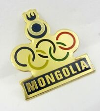 2010 Vancouver Olympic Games Mongolia Olympic Committee NOC Pin Badge