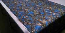 "MC2 COBALT BLUE COTTON POLY TWILL FABRIC 60""W CAMO HUNTING CAMOUFLAGE DWR"
