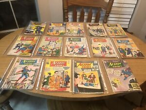 Huge Lot Silver/Bronze Action Comics 14 Books 1950-60's - 10 -12 Cent Superman!!