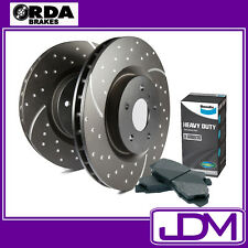 NISSAN PATROL GU Y61 3.0 LTR DDTi SLOTTED RDA FRONT Rotors & BENDIX HD PADS