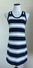 J Crew Tank Dress Rugby Striped Blue White Size Small S