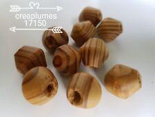 lot de 10 grosses perles en bois toupie 16mm,trou 5mm