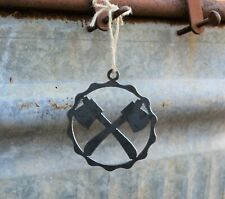 Double Ax Ornament | PNW Ornament | Outdoors Ornament | Forest Ornament | Hiking