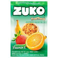 Zuko Drink Mix, Fruit Punch flavored drink mix 0.9 oz -10 packs