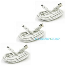3X 3FT MICRO USB DATA SYNC POWER CHARGER CABLE WHITE SAMSUNG GALAXY S2 S3 NOTE