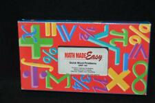 VINTAGE VHS: MATH MADE EASY QUICK WORD PROBLEMS QWP-100 LIKE NEW