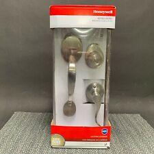 Honeywell 8106307 Wave Door Lever Handleset, Satin Nickel