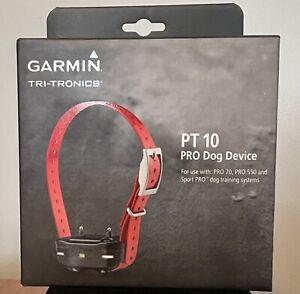 Garmin Tri-Tronics PT 10 Pro Dog Device-Brand New Red Collar