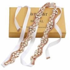 Yanstar Handmade Rhinestone Belt Wedding Bridal Belt Sashes For Bridesmaid Dress