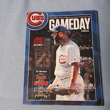 Chicago Cubs Baseball  Jake Arrieta Gameday Program Scorecard 2 Tickets Stubs