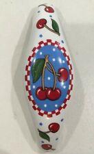 Rare! Mary Engelbreit Ceramic ~Cherries~ Drawer/Cabinet Handles Pulls Mint