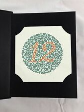 38 PLATE ISHIHARA TEST BOOK COLOR BLINDNESS DR SHINOBU JAPAN with OCCLUDER