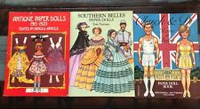Vintage ANTIQUE PAPER DOLLS Lot 1915-1920 Arnold 1975 Chuck & Di Southern Belle