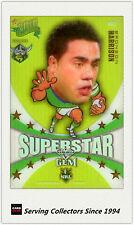 2010 Select NRL Champions Superstar Mascot Gem MG3:Bronson Harrison (Raiders)