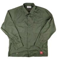 Neighborhood Mens Military Classic Shirt Overshirt Jacket Olive Green Size XL