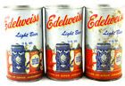 Qty. 3 Edelweiss Light Beer Can Steel Top Opened Vintage Free Shipping