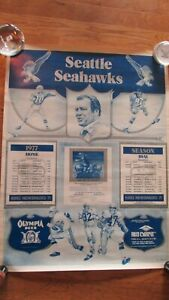1978 SEATTLE SEAHAWKS SCHEDULE POSTER-VG-EX CONDITION-RARE
