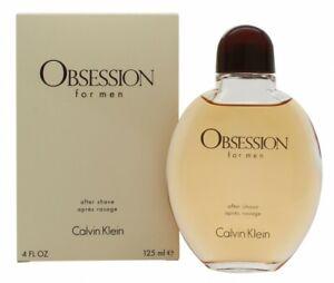 CALVIN KLEIN OBSESSION AFTERSHAVE SPLASH 125ML - MEN'S FOR HIM. NEW