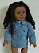 Shirt Denim Chambray For 18 in American Girl Doll Clothes