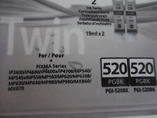 ORIGINAL TWINPACK CANON PIXMA 2x PGI-520BK  iP3600 iP4700 MP540 MP550