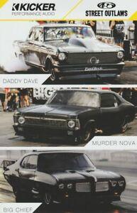 2018 Big Chief + Murder Nova + Daddy Dave Kicker SEMA Street Outlaws Hero Card