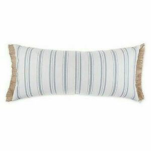 Bee & Willow Vintage Ticking Stripe Oblong Decorative Pillow Farmhouse Natural