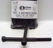 1/4-20x3-1/2 Hex Socket Head Cap Screws Alloy Steel Black (12)