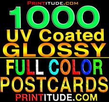 """1000 POSTCARDS 2""""x4"""" FULL COLOR GLOSSY 2 SIDED 2X4 CUSTOM PRINTING +FREE Design"""