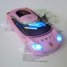 W8 phone Sports car Unlocked cell phone Quad Band Dual SIM MP3 pink mobile phone