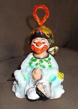Enesco Clown Angel Wind Up Music Box Ceramic I'M Dreaming Of A White Xmas Vtg
