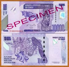 SPECIMEN, Congo D. R., 10000 (10,000) Francs, 2006 (2012), P-New, UNC
