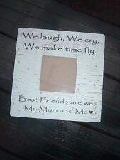 Mum and me personalised shabby & chic vintage photo frame mothers day gift idea