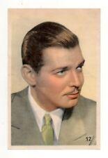 Clark Gable 1937 Allers Large Film Star Card / Magazine Insert #12